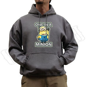 One In a Minion Despicable Me Dave Funny Jumper Hoodie All Colours S-XXL