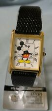 Running  Mickey Mouse Watch by Lorus with  New Lizard Grain Leather Band