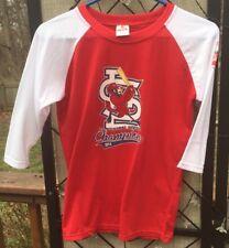 St. Louis Cardinals Baseball Shirt Top Xl Youth 3/4 Sleeve 2014 Champs