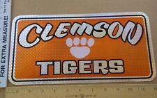 University of Clemson tigers prism ladies paw metal license plate sign car tag