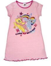 Vêtements roses manches courtes en polyester pour fille de 2 à 16 ans