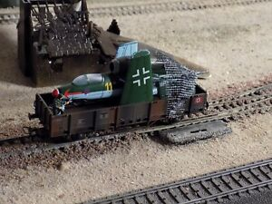 JOUEF, WWII MILITARY WAGON WITH ONE Heinkel He 162 LOADED, SCALE HO