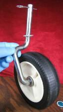 """Agri-Fab 7"""" Wheel & Axle assy for De-thacher and other lawn tractor equipment"""