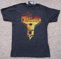 NEW PREACHER Church Logo Logo Men's Unisex Marl Gray Grey T SHIRT Size M Medium