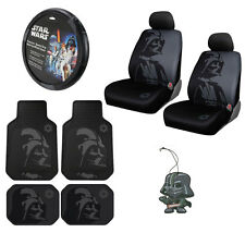 New Star Wars Darth Vader Car Truck Seat Covers Steering Wheel Cover Floor Mats