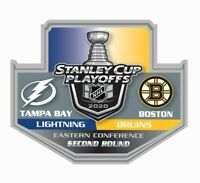 2020 STANLEY CUP NHL PLAYOFFS PIN 2ND SECOND ROUND BOSTON BRUINS VS. LIGHTNING