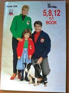 Panda Knitting Pattern, Family Knits 5, 8 & 12 Ply - Book No 506