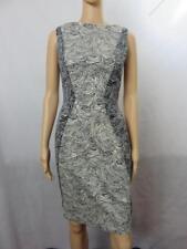 NEW Lela Rose Navy Blue & Ivory Floral Print Sleeveless Dress Size 4 NWT $1095