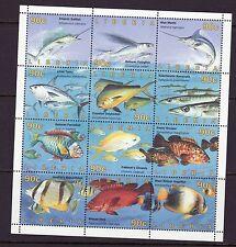 Liberia # 1206 MNH 1996 Complete Sheet Fauna Fish CV $33!