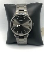 Fossil FS5459 Men's Gray Stainless Steel Analog Dial Quartz Wrist Watch HO281