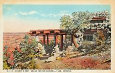 GRAND CANYON NATIONAL PARK ARIZONA~HERMITS REST~1920s FRED HARVEY PUBL POSTCARD
