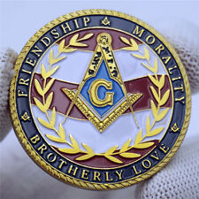 US Military Masonic Freemason Freemasonry Challenge Gold Coin Collectible Gift