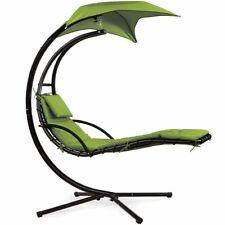 Hanging Chaise Lounge Chair Hammock Swing Patio Outdoor Beach Yard Garden Canopy