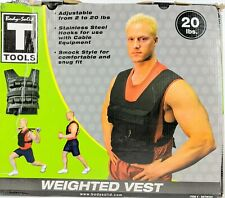 Body Solid tools weighted vest 20 lb Workout Adjustable Weights Training Running