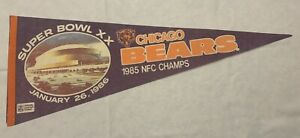 CHICAGO BEARS SUPERBOWL 20 PENNANT STADIUM ONLY