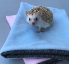 Fleece snuggle sack for hedgehogs and guinea pigs. Double fleece sleeping bag.