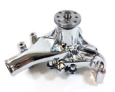 SB Chevy Long Water Pump SBC 283 327 350 383 400 High Volume Chrome Aluminum
