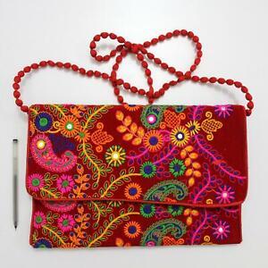 Vintage Tribal Banjara Indian Handmade Ethnic Women Hobo Purse Hippy Clutch Bag