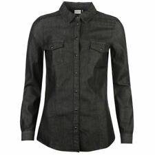 Cotton Long Sleeve Tops & Blouses for Women with Buttons