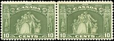 Canada Mint H F+ Pair of 10c Scott #209 1934 Loyalists Issue Stamps