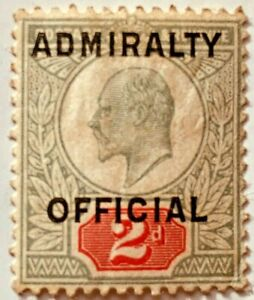 1903 SGO110 2d Green & Carmine Admiralty Official Mounted Mint Cat £900