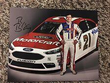 Ryan Blaney Signed 8x10 Photo NASCAR COA autograph