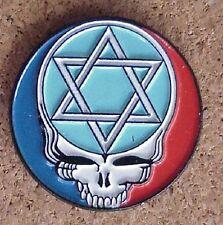 GRATEFUL DEAD STAR OF DAVID JEWISH STAR CLOISSONE JEWELRY 2 POST PIN