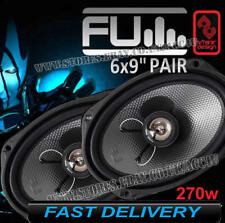 "FLI Underground FU69 6x9"" 270w Car Parcel Shelf Coaxial Speakers Set With Grills"