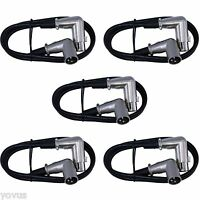 5pack 6 ft foot Right Angle 90 degree 3pin XLR mic microphone audio cords cables