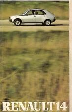 Renault 14 1980-81 UK Market Sales Brochure TL GTL LS TS