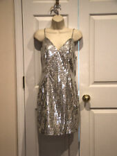 NWT $299 frederick's of hollywood silver sequin Prom party Dance dress  7/8