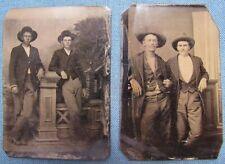 Lot of 2 1880's 1/6-plate tintypes from Waco, Texas family album (1)