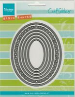 Marianne Craftables Frames Oval/Scalloped/Plain Set of 6 CR1333/Cutting Die Set