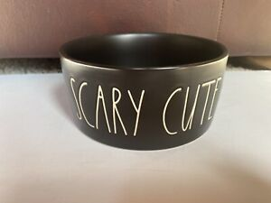 "Rae Dunn - SCARY CUTE 6"" Black Halloween DOG BOWL - NWT"