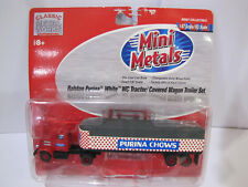 Classic Metal Works Mini Metals Ralston Purina White WC Tractor Trailer Set 1:87