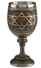 "6.5"" Star of David Menorah Chalice Religious Home Decor Cup"