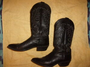 Nocona Boots BLACK WESTERN COWBOY Boots WOMEN'S SIZE: 9 1/2 B