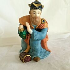 "Christmas Nativity King Balthazar 4"" tall kneeling Porcelain replacement Magi"
