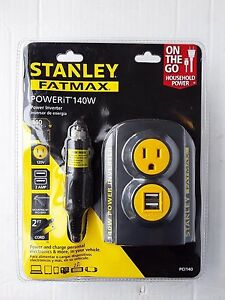 STANLEY FATMAX 140W POWER CONVERTER *NEW*