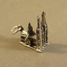 .925 Sterling Silver 3-D KOLN CATHEDRAL CHARM NEW Cologne Pendant 925 TR77