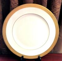 Vtg England Waterford KELLS Fine China Dinner Plate Celtic Style Gold Band 10.8""