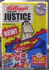 "Superman Sugar Justice Cereal Box 2"" X 3"" Fridge Magnet. Man of Steel"