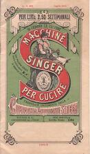 CATALOGO PUBBLICITARIO SINGER MACCHINE PER CUCIRE LUGLIO 1905