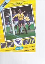 League Cup Home Teams O-R Oxford United Football Programmes
