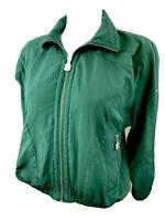 Vintage Kaelin Womens Emerald Green Long Sleeve Full Zip Track Jacket Size XS