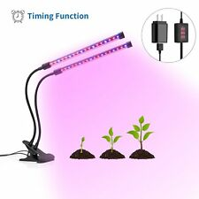 36 LED Grow Lights for Indoor Plants w/ 3 6 12 Hour Timer, TekHome Dual Head 12W