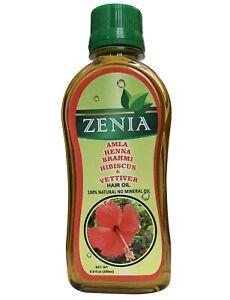 200ml Zenia Amla Henna Brahmi Hibsicus & Vettiver Hair Oil