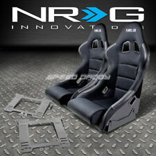 NRG TYPE-R DEEP BUCKET RACING SEATS+STAINLESS STEEL BRACKET FOR MK4 GOLF/JETTA(Fits: Golf)