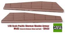 Kit de modelo de resina de escala 1/35 M4A3 Sherman panel de madera conjunto de hormigón armadura + #3
