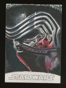 Topps Star Wars Evolution Sketch Card KYLO REN JENNIFER ALLYN AUTO 1/1